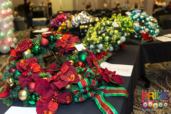 hundreds attended the annual pride wreath ornament auction held during decembers las vegas pride family bingo at the center - Las Vegas Christmas 2014