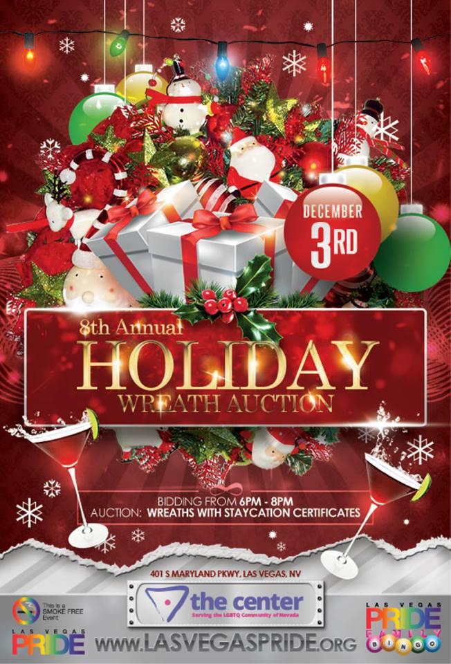 las vegas pride holiday wreath auction december 3 2014 las vegas pride - Las Vegas Christmas 2014