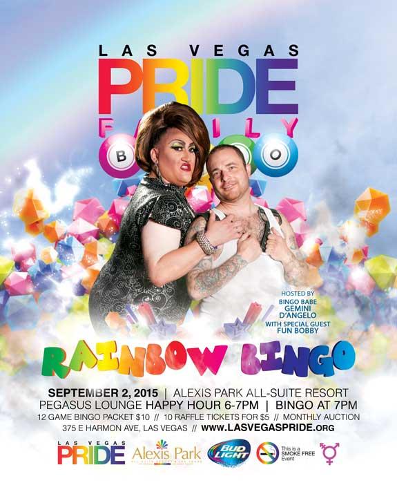 PRIDE Family Rainbow Bingo