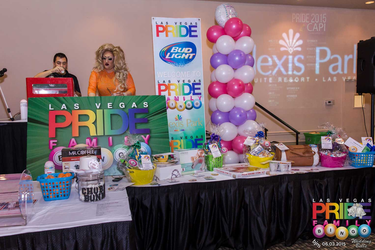 Hundreds Participated In The Monthly Themed Las Vegas PRIDE Family Bingo At Alexis Park All Suite Resort Take A Look Fun Times Had By Who