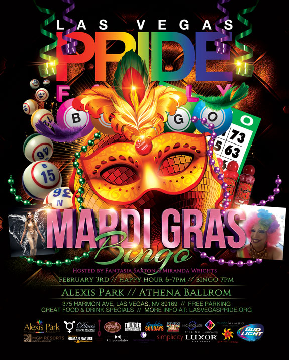 Mardi Gras Bingo - February 3, 2016