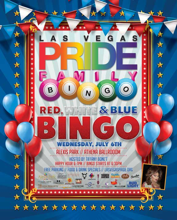 Red, White & Blue PRIDE Family Bingo