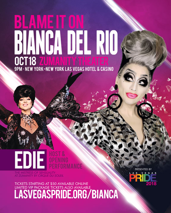 Click or Tap to browse seats for the Blame it on Bianca Del Rio Comedy Tour show on October 18, 2018