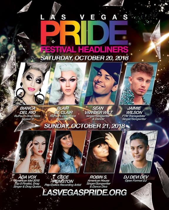 2018 PRIDE Festival Headliners
