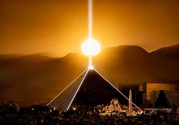 Luxor Las Vegas at Sunset