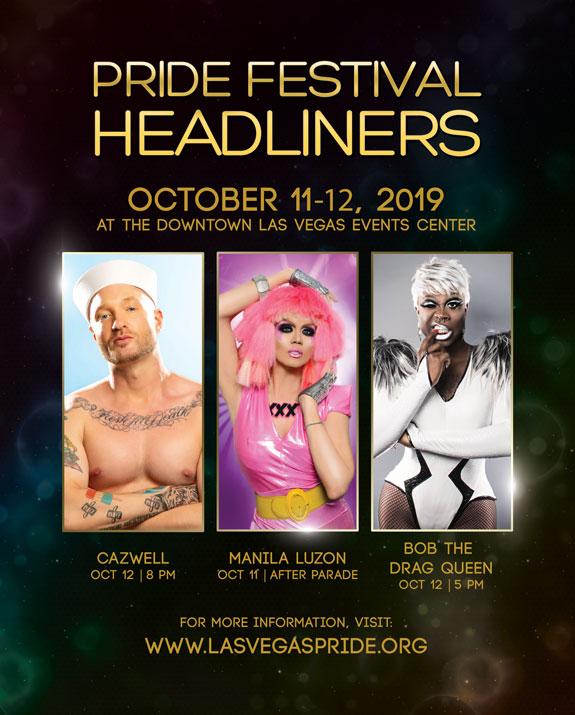 2019 PRIDE Festival Headliners