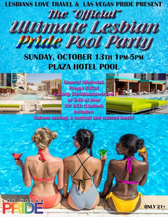 Ultimate Lesbian Pride Pool Party Las Vegas Pride