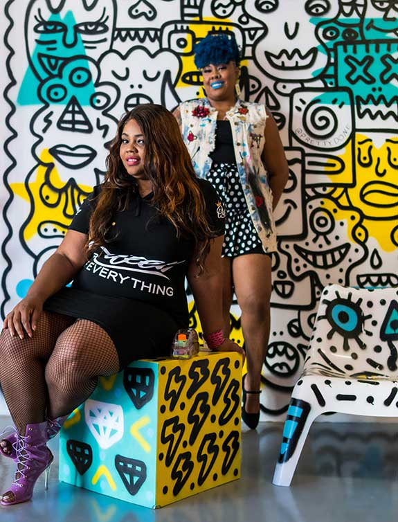 B.Danielle Watkins and Onyx Keesha. Photo by Michele Dearing