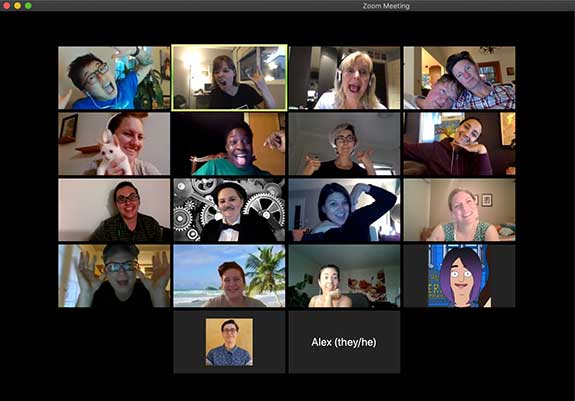 San Diego She Fest Planning Committee Zoom meeting