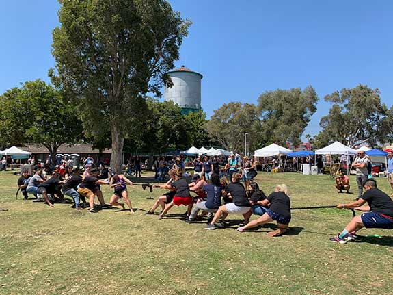 Tug of War held during previous in-person San Diego She Fest event.