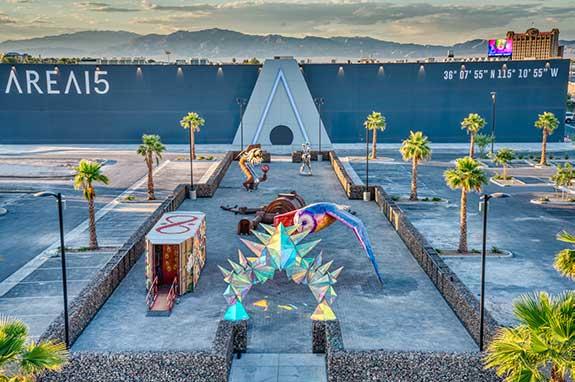 Art Island at AREA15, Photo by Peter Ruprecht