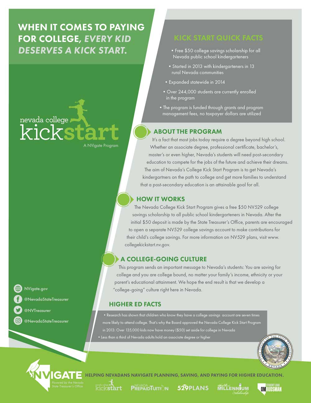 Nevada College Kick Start