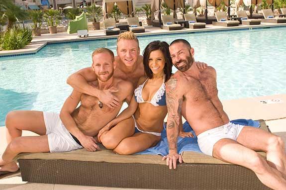 People at the pool at Luxor Las Vegas