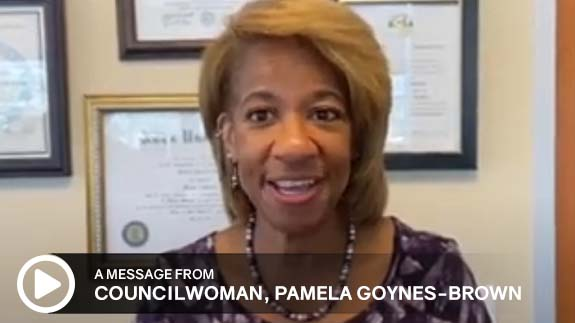 Click to watch a message from City of North Las Vegas Councilwoman Pamela Goynes-Brown